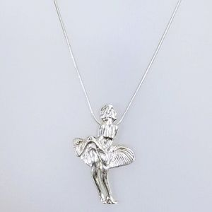 RARE  RETRO Sterling Marilyn Monroe Necklace